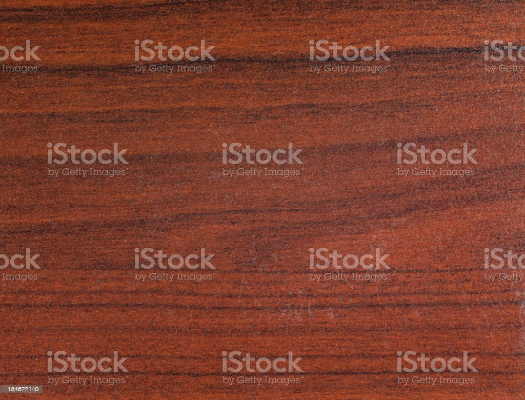 Brown grained wooden panel background stock photo