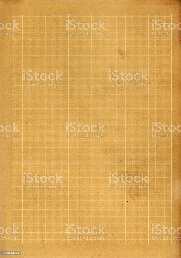 Brown graph paper royalty-free stock photo