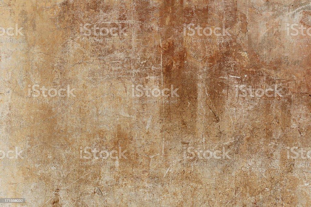 Brown grungy Roman wall royalty-free stock photo