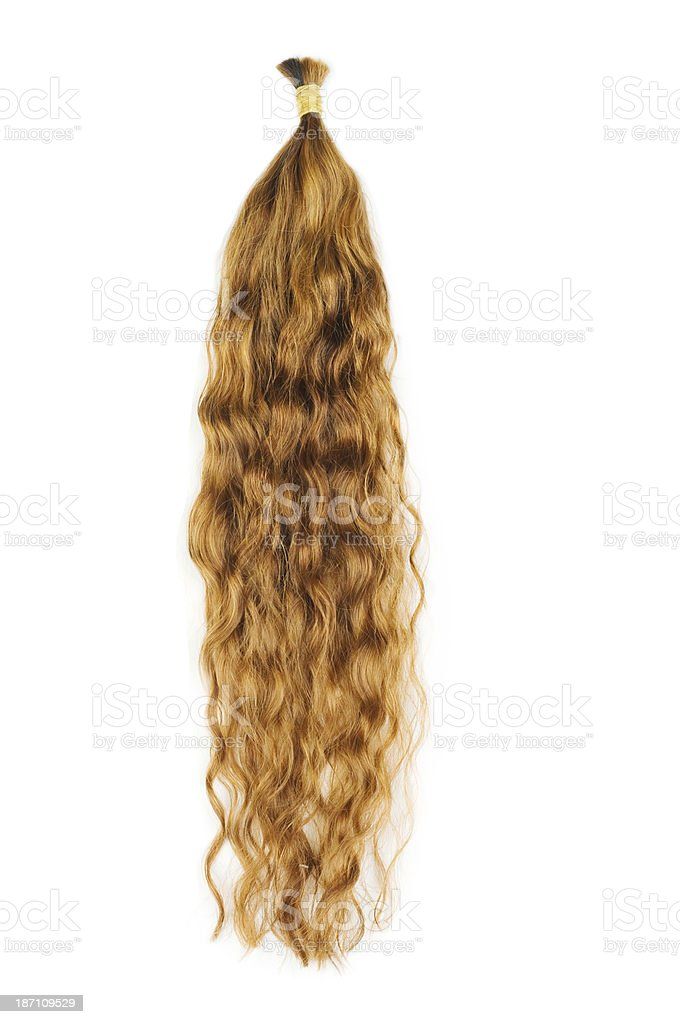Brown hair extensions royalty-free stock photo