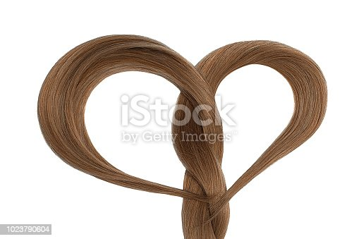 Natural hair isolated over white