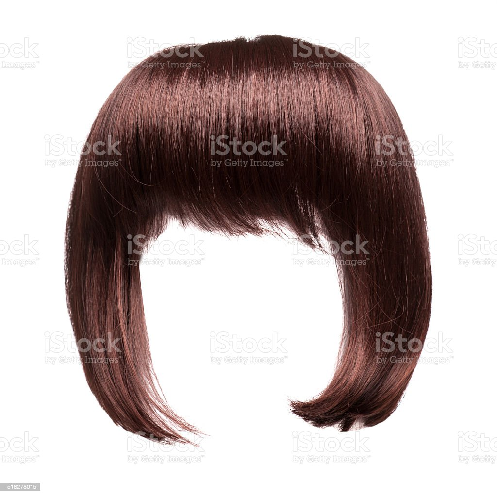 brown hair isolated stock photo
