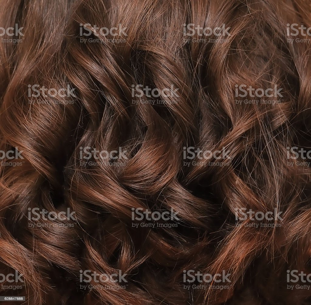 Brown hair lock closeup stock photo