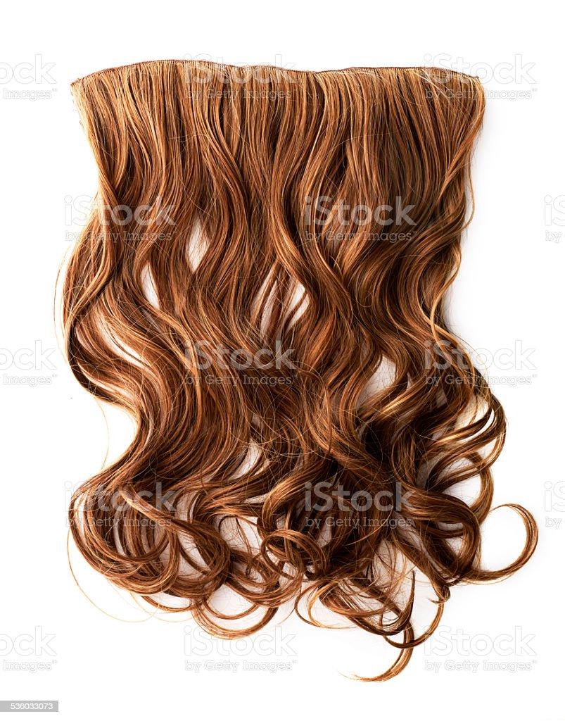 Brown hair piece stock photo