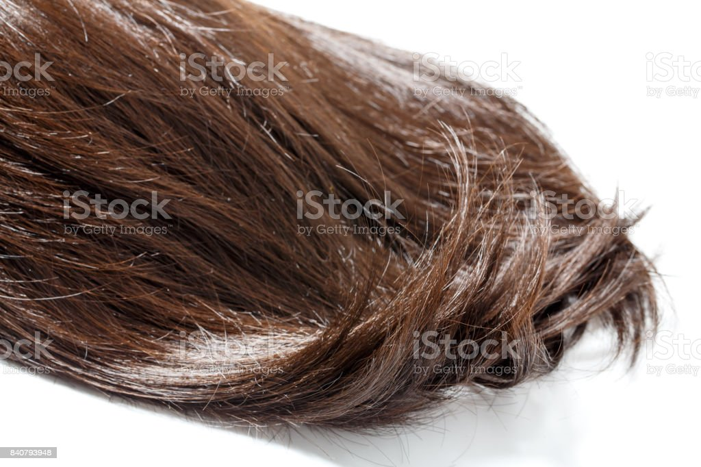 Brown hair piece stock photo