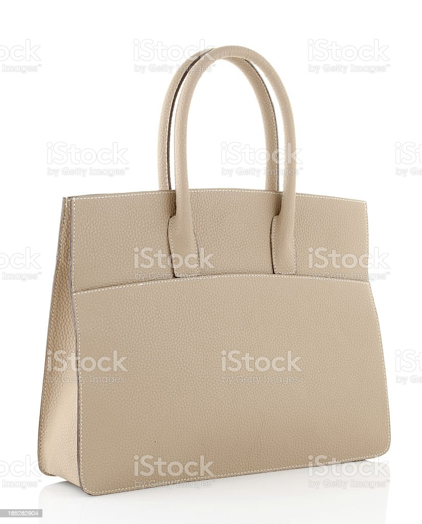 brown handbag royalty-free stock photo