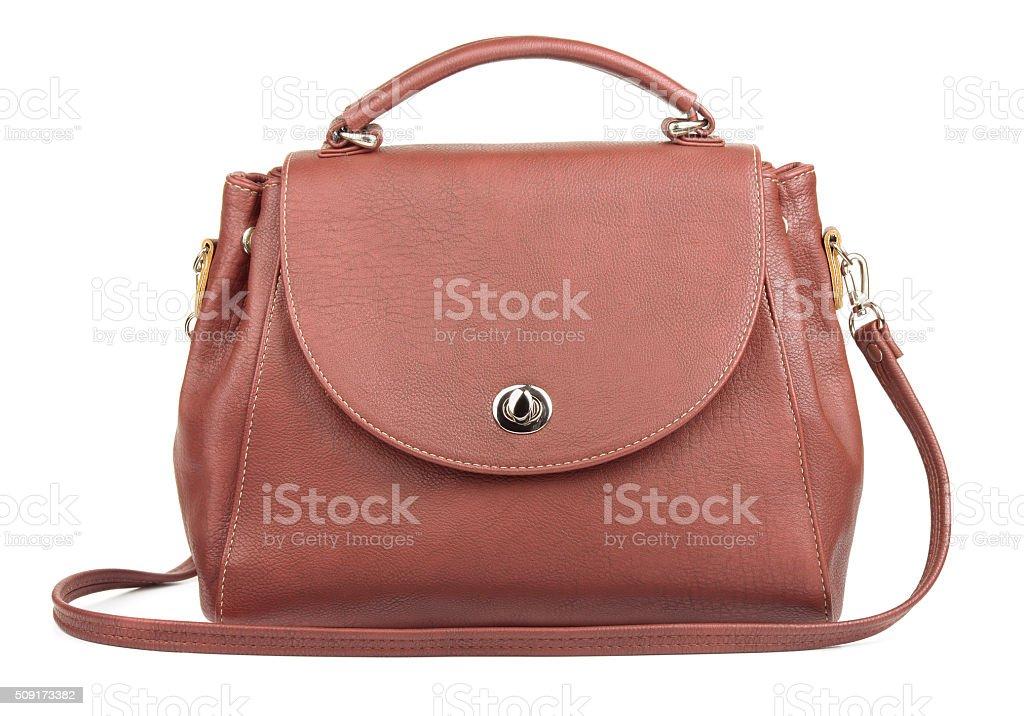 Brown handbag stock photo