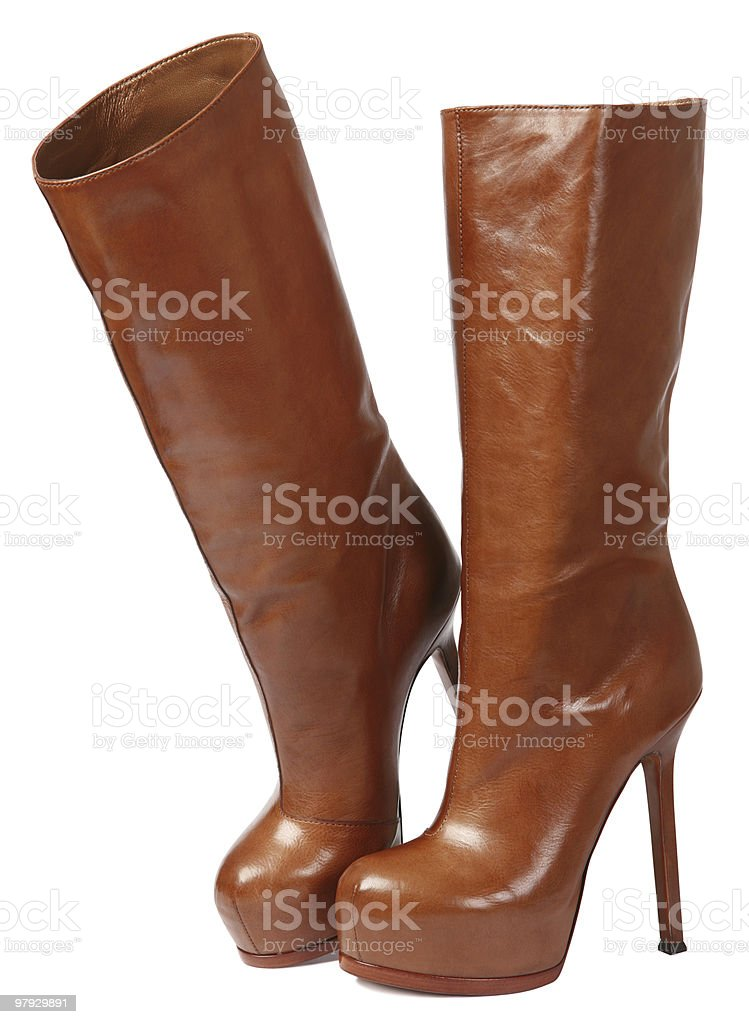 Brown high shoes royalty-free stock photo