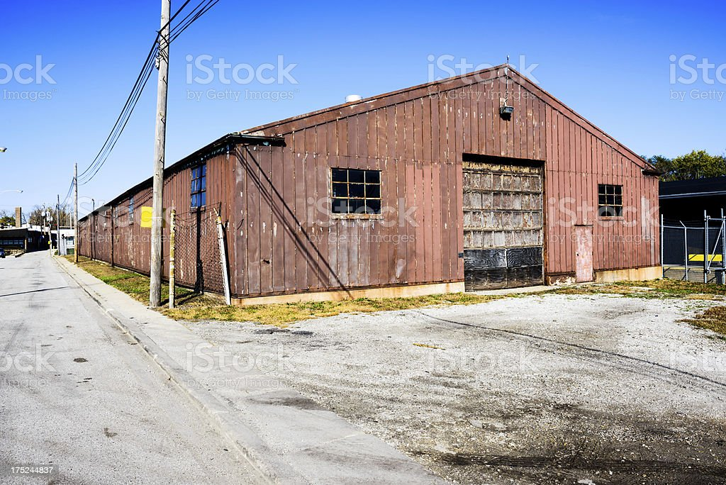 Brown Industrial Shed in Chicago royalty-free stock photo