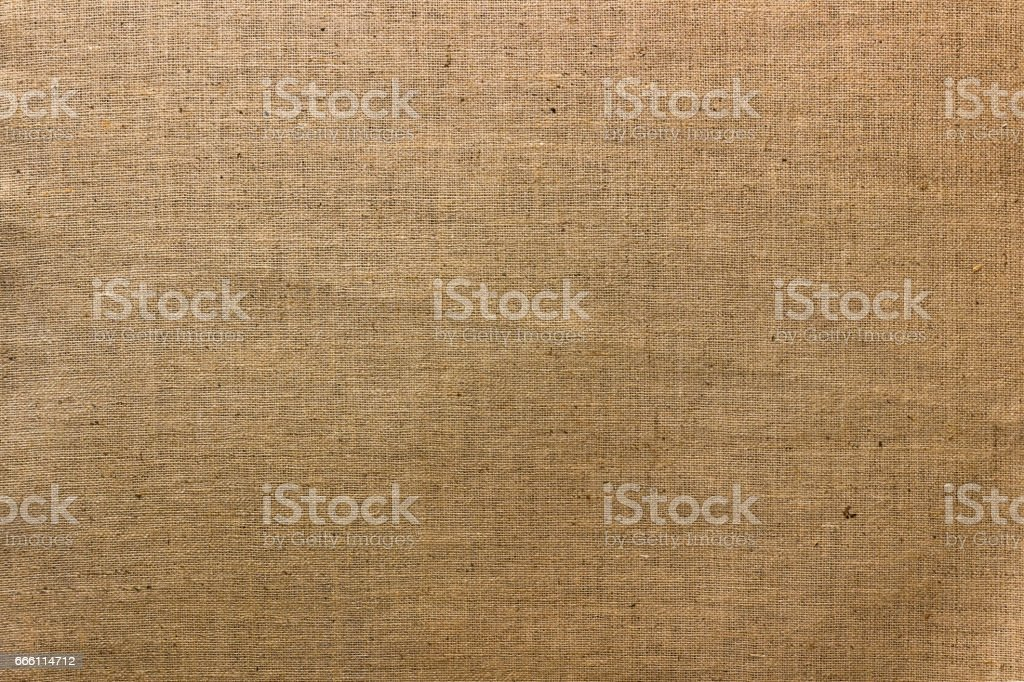 Brown jute natural canvas texture background stock photo
