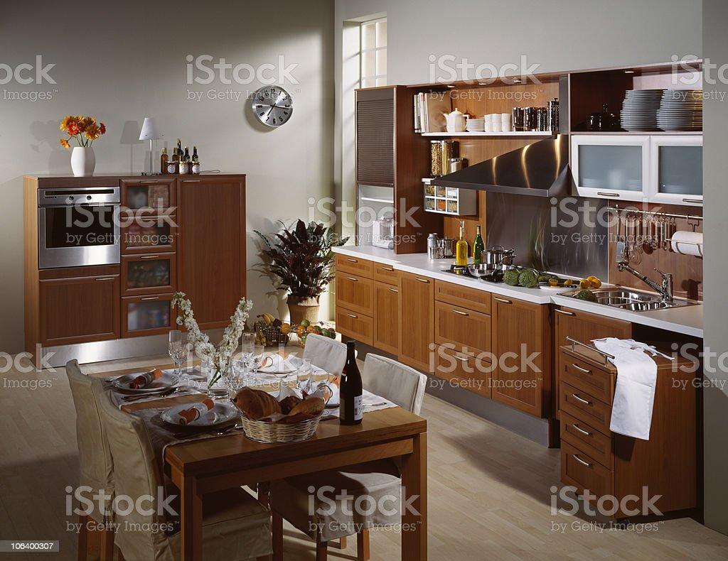 Brown Kitchen stock photo