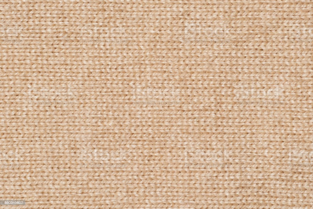 Brown knit texture Close-up stock photo