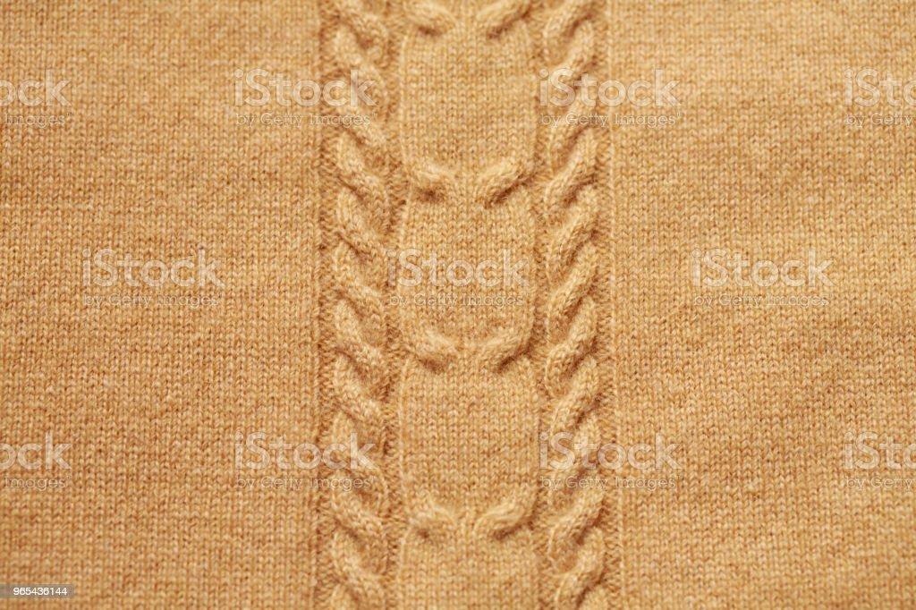Brown knitted woolen background zbiór zdjęć royalty-free