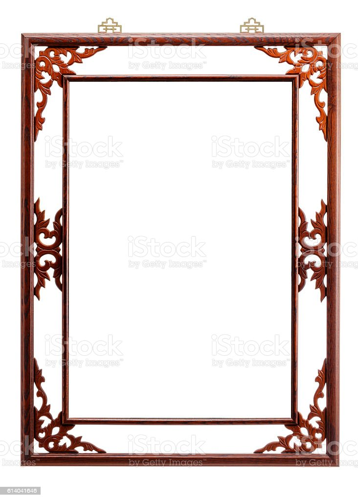 Brown lacquer frame stock photo