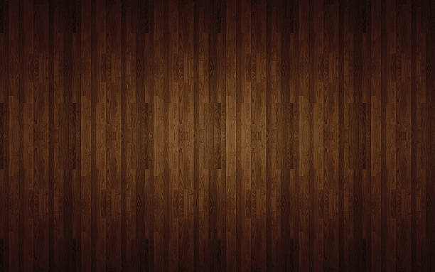 Brown laminated flooring stock photo