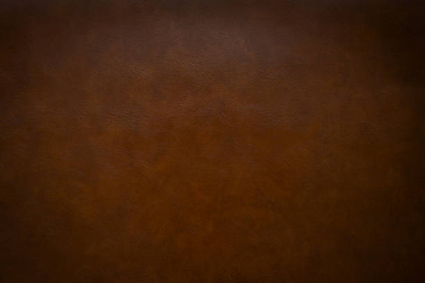 brown leather as a background - couro imagens e fotografias de stock