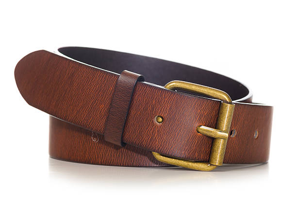 brown leather belt - belt stock photos and pictures