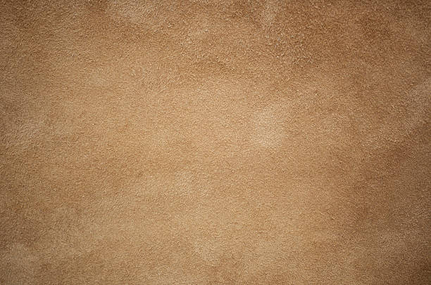 brown leather chamois texture background - brown stock photos and pictures