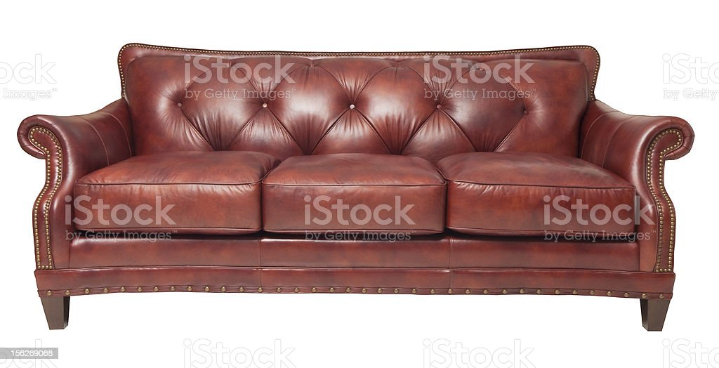 brown leather couch royalty-free stock photo
