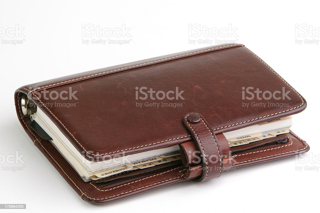 Brown leather diary royalty-free stock photo