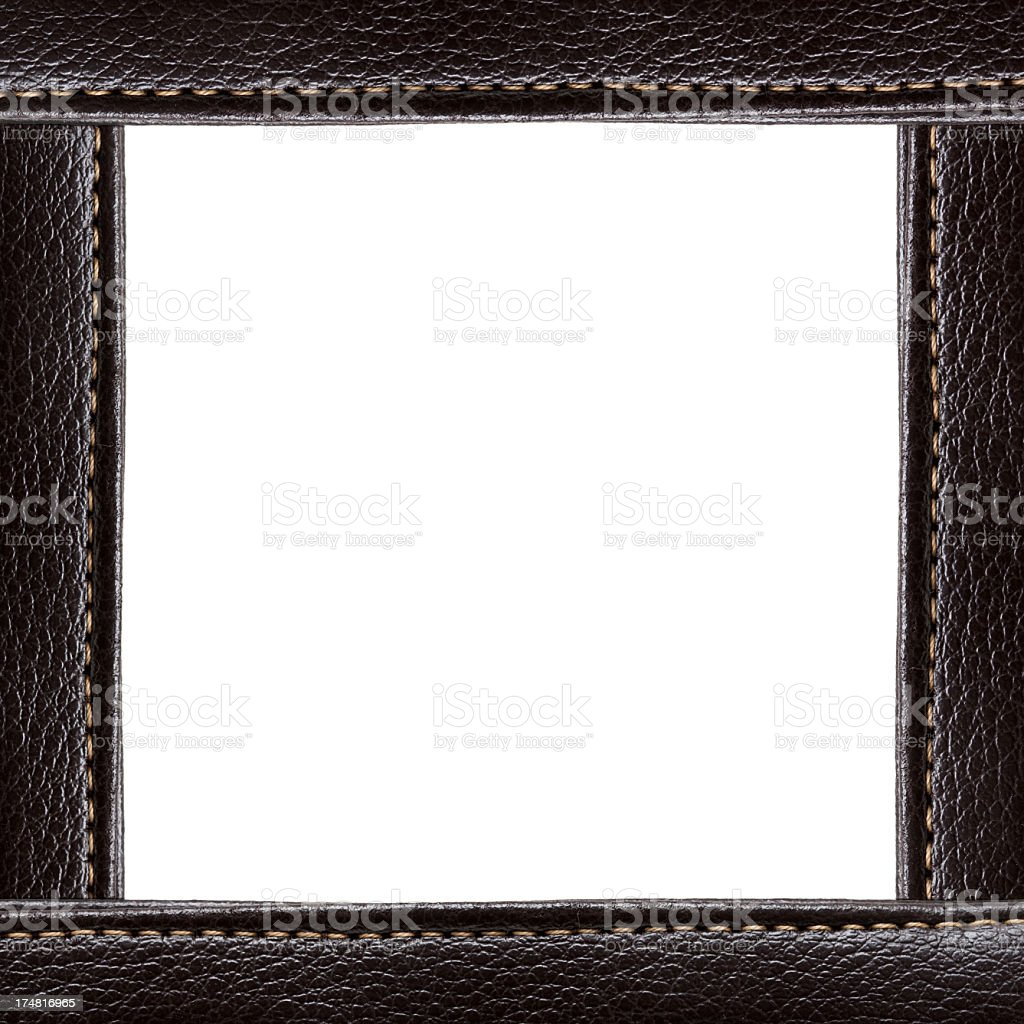 Brown Leather Frame background stock photo