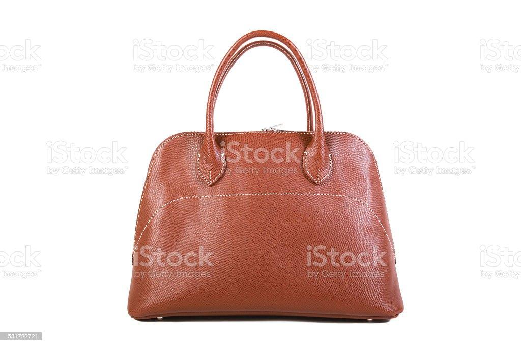 Brown Leather Handbag stock photo