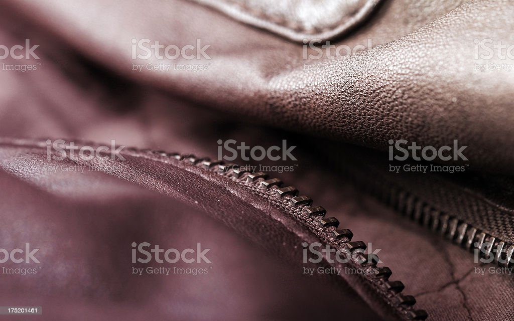 Brown Leather Jacket royalty-free stock photo