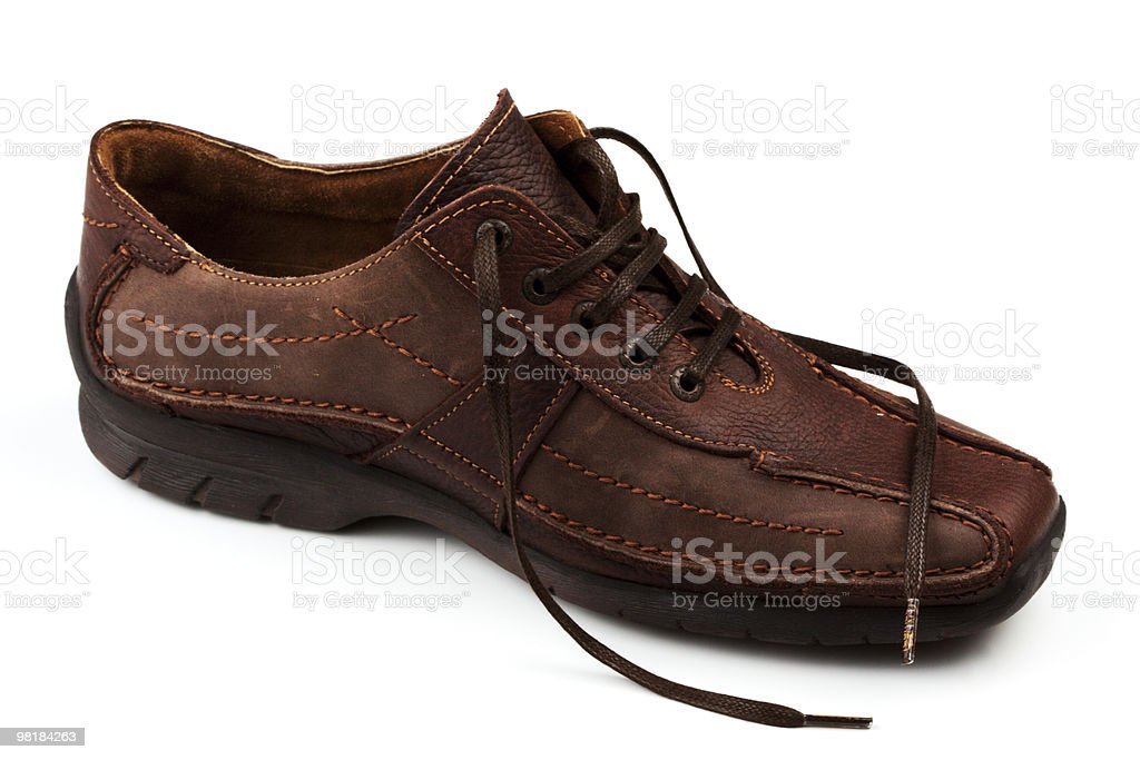 Brown Leather Man's Shoes royalty-free stock photo