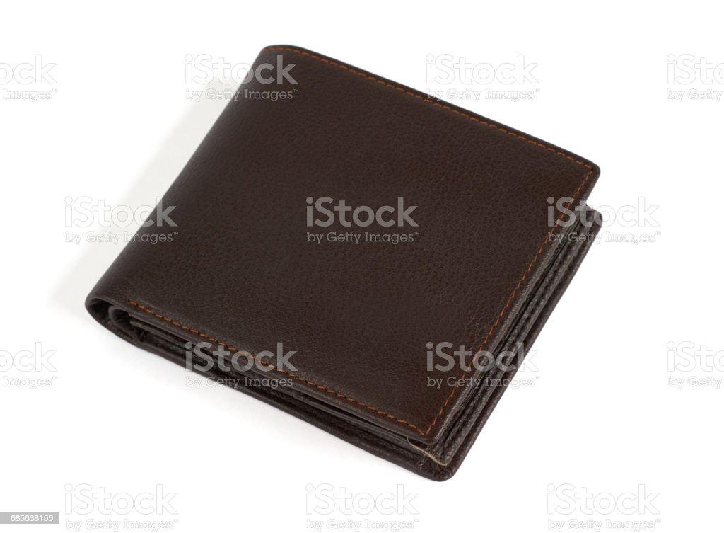 棕色皮革錢包 免版稅 stock photo