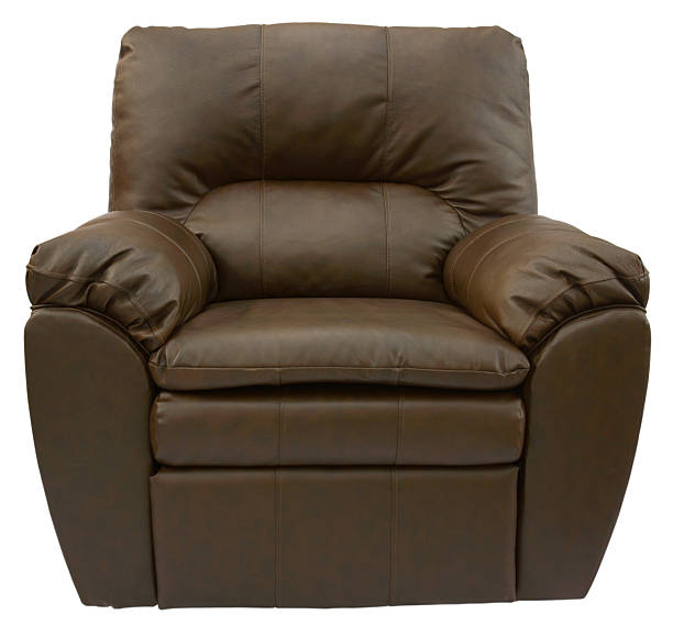 Brown Leather Recliner stock photo