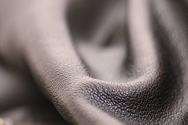 Brown Leather Ripples stock photo
