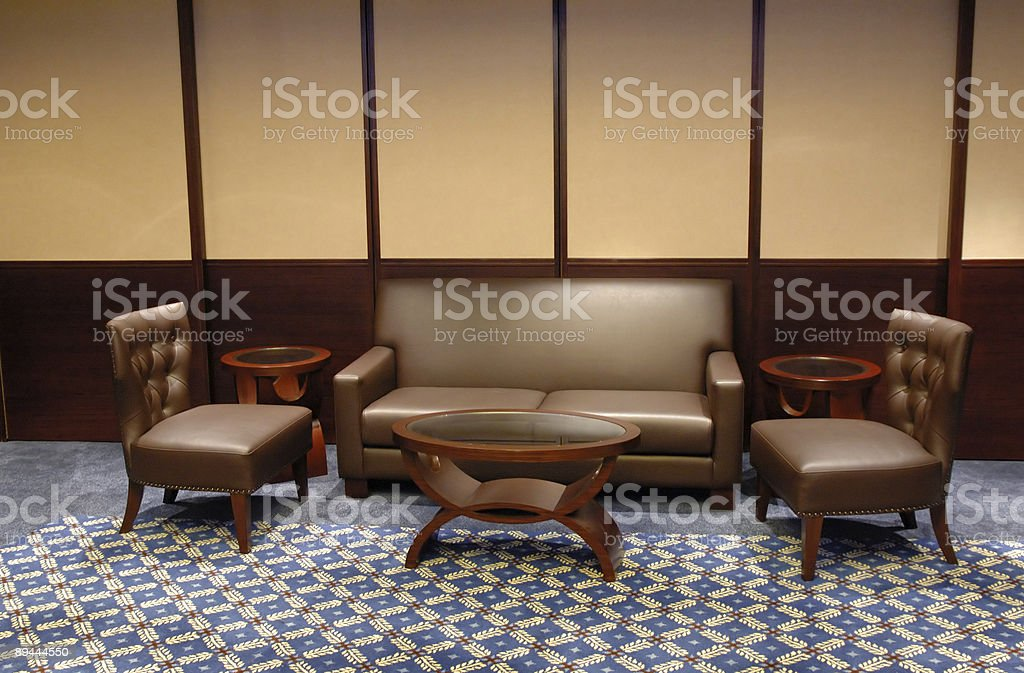 Brown leather sofa royalty-free stock photo