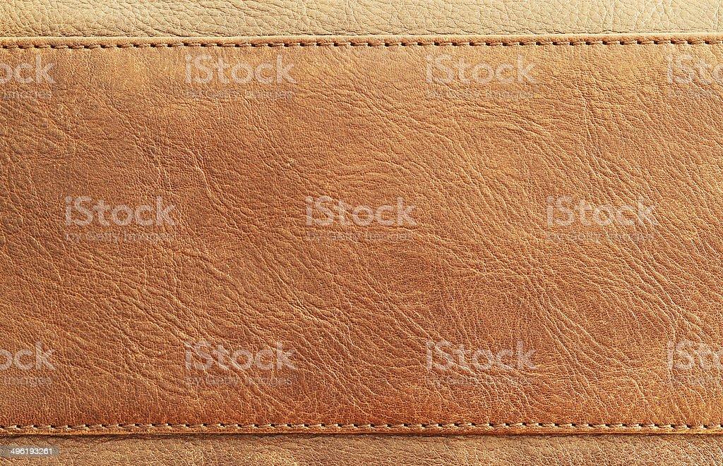 Braun Leder-Textur mit Stich gestrickt – Foto
