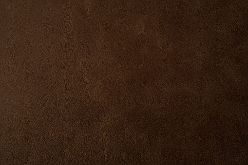 Brown leather texture background, genuine leather. Top view