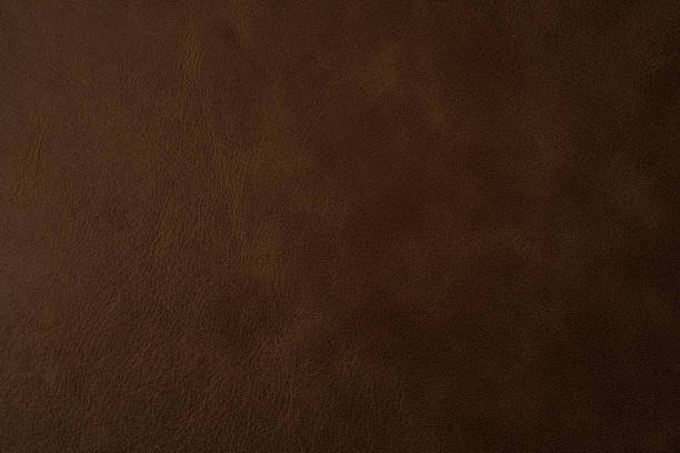 brown leather texture background, genuine leather - couro imagens e fotografias de stock