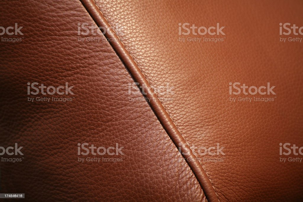 A brown leather texture background stock photo