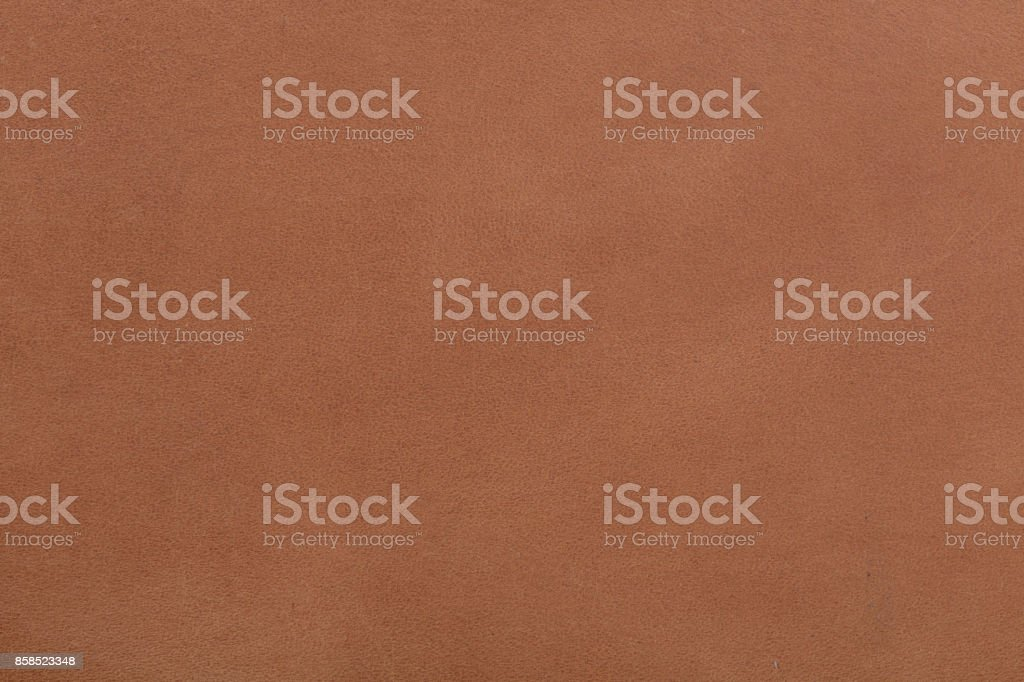Brown leather texture closeup background stock photo