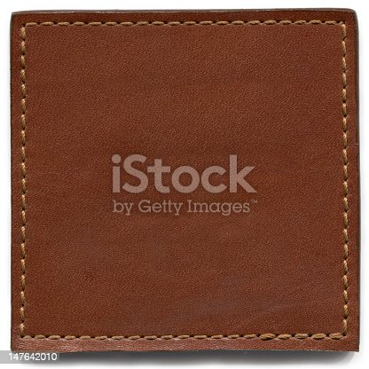 Brown Leather Texture with stitching frame.