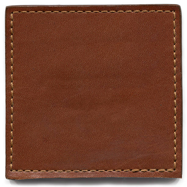 Brown Leather Texture Brown Leather Texture with stitching frame. leather stock pictures, royalty-free photos & images