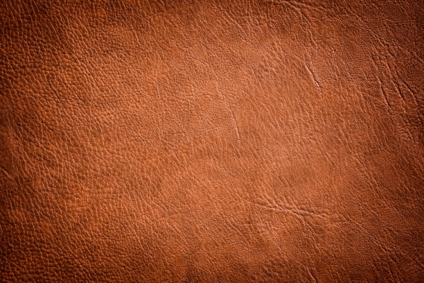 brown leather texture used as luxury classic background - couro imagens e fotografias de stock