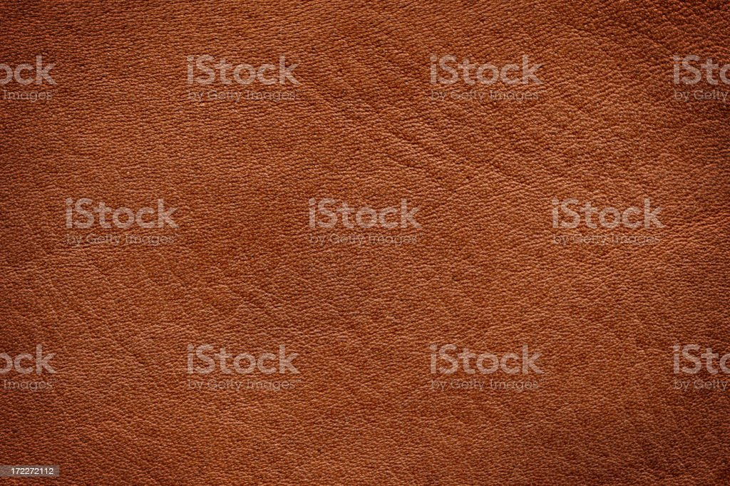 Brown leather texture with slight vignette background texture stock photo