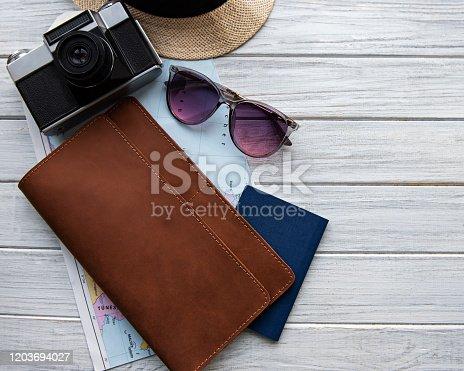 941183588 istock photo Brown leather travel organizer 1203694027