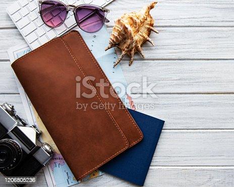 941183588 istock photo Brown leather travel organizer 1206805236