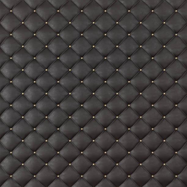 braun leder polster sofa hintergrund. braun luxus dekoration sofa. elegante braune leder textur mit tasten für muster und hintergrund. 3d rendering - ledersessel braun stock-fotos und bilder