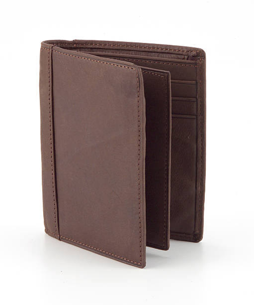 Brown Leather Wallet stock photo
