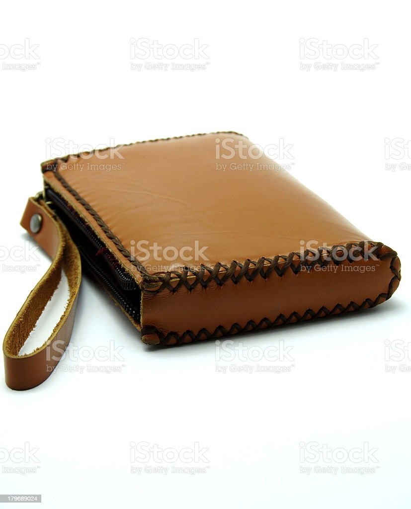 Brown Leather Wallet royalty-free stock photo