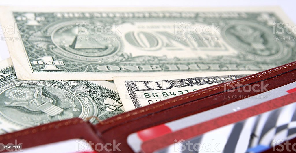 Brown leather wallet royalty free stockfoto