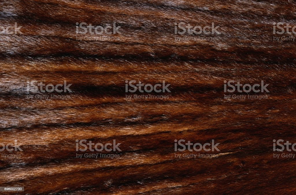brown leather with fur texture stock photo