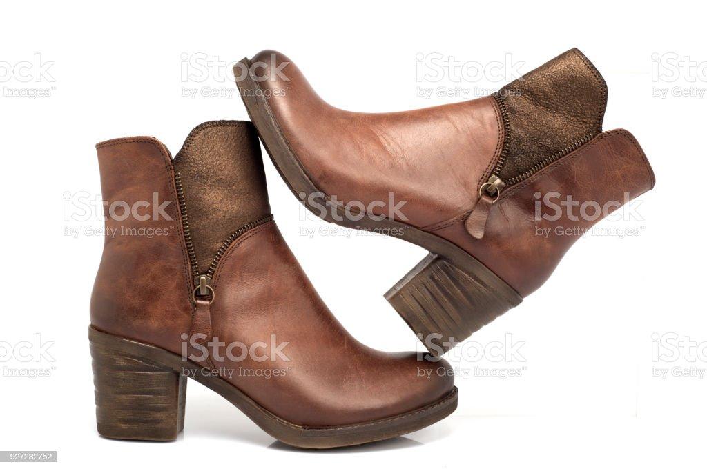 best website 6e6b3 9ab88 Braun Leder Frauen Schuh Stockfoto und mehr Bilder von ...