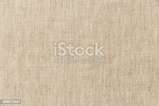 istock Brown light linen texture or background for your design 838075642